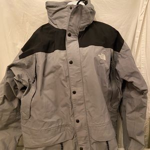 The NorthFace Gray/black jacket XL